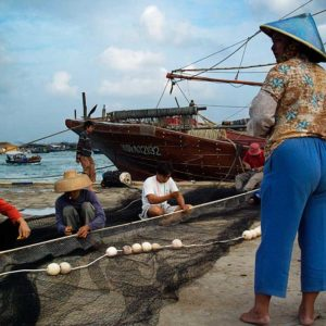 Fiskare i Hainan, Kina Foto: Kjell Fredriksson