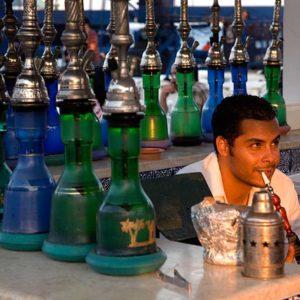 Vattenpipa café i Sousse, Tunisien Foto: Kjell Fredriksson